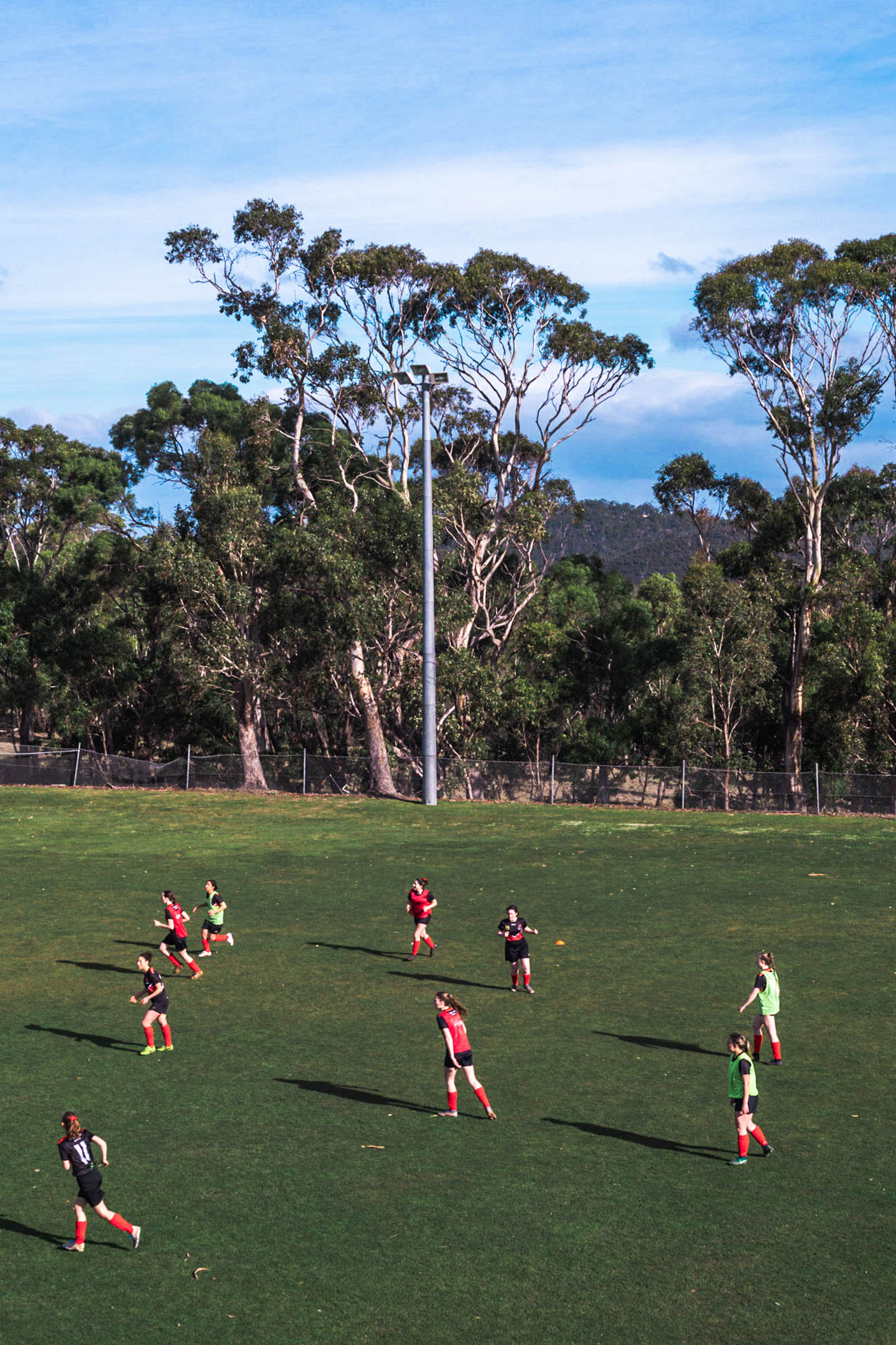 Players training at Olinda Grove